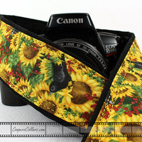 Sunflower Camera Strap, Birds, dSLR, Yellow, Flower, SLR, 151