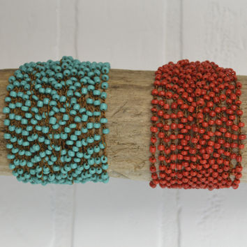 Beads And Things Bead Cluster Threaded Bracelets