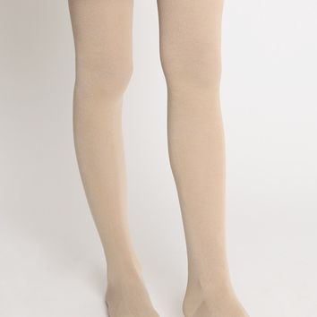 Autumn Leaves Thight High Socks In Beige | Ruche