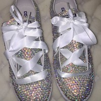All Star Converse Triple Crystal AB With White Laces