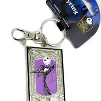 Jack Skellington Purple Keychain Nightmare Before Christmas Keyring