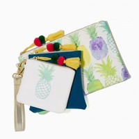 Tropic Pineapple Pouch Trio | Charming Charlie