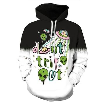 New Funny Halloween Costumes For Men/Women Alien Spacecraft Print 3d Hoodies Men Long Sleeve Hooded Sweatshirts Hoody Pullovers