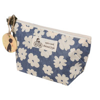 Naivety 2016 New Portable Travel Cosmetic Bag Floral Printing Linen Makeup Toiletry Organizer Pouch Cosmetische zak 11S60921