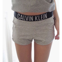 """Calvin Klein"" Women White Lounge Shorts"
