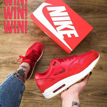 Nike AIR MAX 1 LX Air cushion retro stitching running shoes