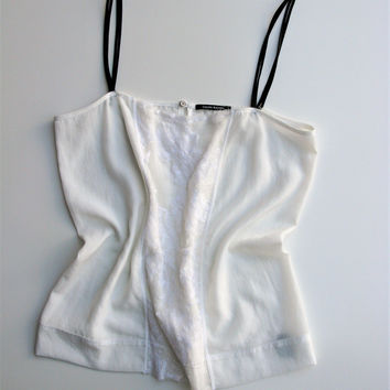 Calvin Rucker  'A Girl Like You' White Lace Camisole Top M