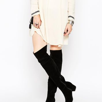 Truffle Collection Luan Square Toe Over The Knee Boots