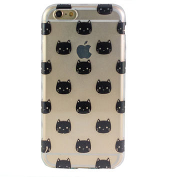 Clear Black Cat iPhone 6 Case