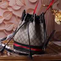 GUCCI GG SUPREME LEATHER VINTAGE INCLINED SHOULDER BAG