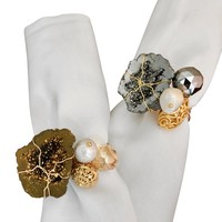 Treasures Napkin Ring - Gold and Silver