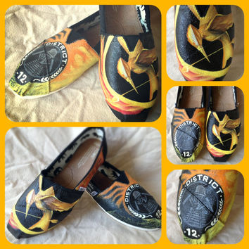 The Hunger Games Custom Toms (SHOES NOT INCLUDED)