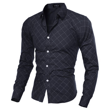 Slim Fit Men's Fashion Slim Dress Shirt