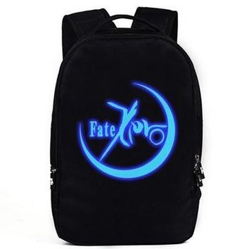 New Anime Fate zero luminous Backpack Fashion Fate stay night saber Luminous Oxford SchoolBag Unisex