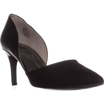 Bandolino Grenow Kitten-Heel Pumps, Black/Black, 8.5 US