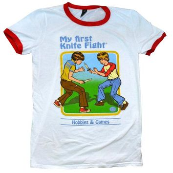 My First Knife Fight Ringer Shirt