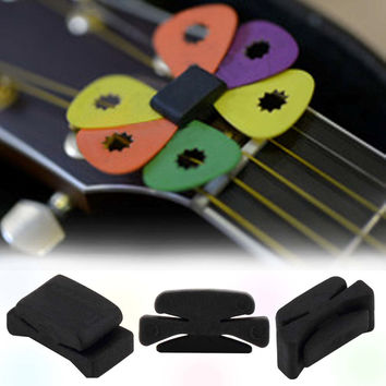 Professional Music Instruments Guitar Picks Rubber Musical Instruments Guitar HeadStock Pick Holder High Quality