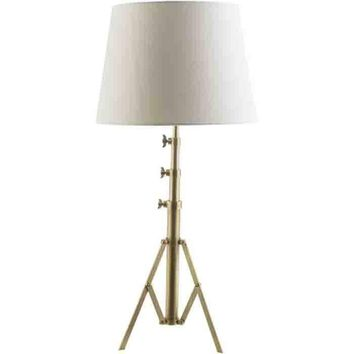 Hutton Hall Table Lamp ~ Antique Brass