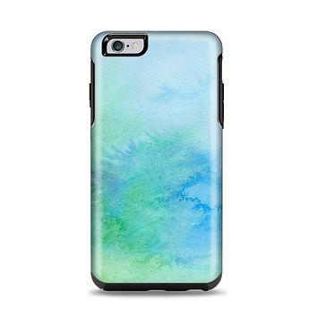 The Subtle Green & Blue Watercolor V2 Apple iPhone 6 Plus Otterbox Symmetry Case Skin Set