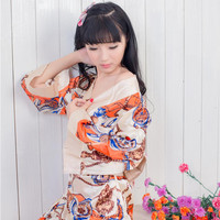 Hot Seller Japanese kimono Chiffon Sexy lingerie women costumes Sex Products toy Erotic underwear Role play Ladies pajamas Print