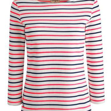 Neon Multi Harbour Striped Jersey Top | Joules UK