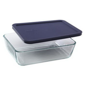 Opentip.com: PYREX 6017396 Simply Store 6 Cup Rectangular Dish w/ Blue Lid