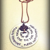 Hand Stamped Copper and Silver Avett Brothers Quote From Murder In The City