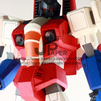 Transformers GI Starscream,Making Gundam,Instant Pdf download, 3D Pattern,Paper toys,Handmade Gundam,Paper Crafts,Paper Robot,3Dpaper,3D