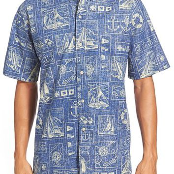 Men's Reyn Spooner 'Yachting Tapa' Classic Fit Wrinkle Free Sport Shirt