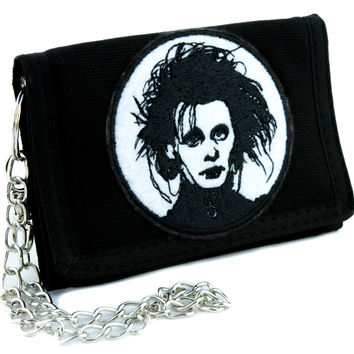 Edward Scissorhands Tri-fold Wallet Gothic Clothing Johnny Depp Tim Burton