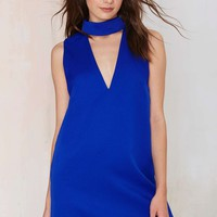CameoCollective Say It Right Cutout Dress - Blue