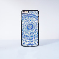 Blue Mandala LionPlastic Case Cover for Apple iPhone 6 Plus 4 4s 5 5s 5c 6