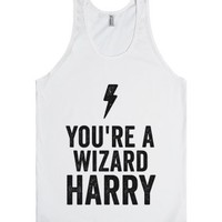 You're A Wizard Harry [v2] (Tank)-Unisex White Tank