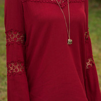 Flow To Love Blouse, Crimson