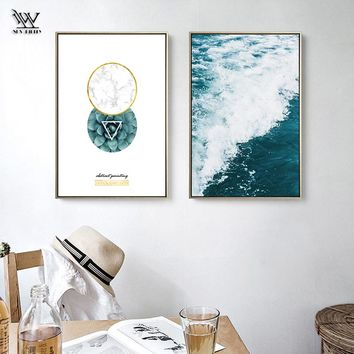 Post Modern Seascape Canvas HD Printed Posters Home Decor Living Room Paintings Vintage Kitchen Accessory Wall Art Pictures