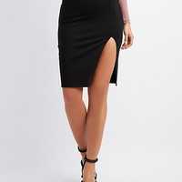 Ponte Knit Bodycon Pencil Skirt | Charlotte Russe