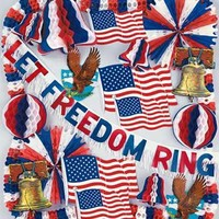 Patriotic / 4th of July Decorations: Patriotic Theme Decorating Kits with Assorted 4th of July Decorations Enliven Any Celebration