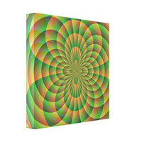 Orange and Green Kaleidoscope Canvas Print