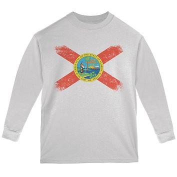 Born and Raised Florida State Flag Youth Long Sleeve T Shirt