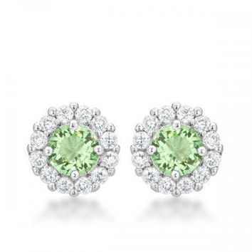 Bella Bridal Earrings In Peridot (pack of 1 ea)