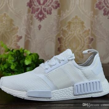 2017 NMD Runner R1 Mesh Triple White Cream Pack Men Women Running Shoes Sneakers Disco