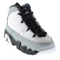 "Air Jordan 9 Retro ""Birmingham Barons"" (BT) Baby Toddlers Basketball Shoes White/Black-Wolf Grey 401812-116 (9.5 M US)"