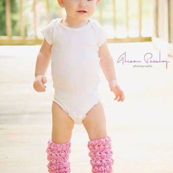 Baby Child and Adult Crocheted Fall Leg Warmers