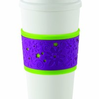 Copco 2510-0184 Acadia Reusable To Go Mug, Mod Flower Design