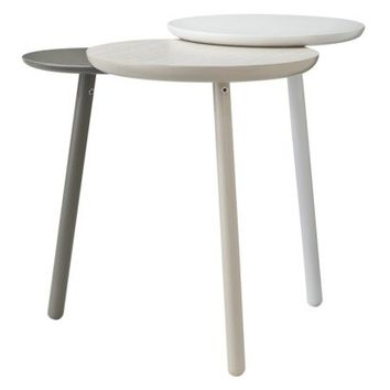 TOO by Blu Dot Trois Accent Table - White/Light Gray