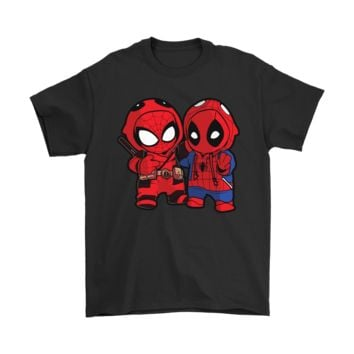 PEAPINY Deadpool And Spider-Man Costume Exchange Shirts