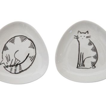 Cat Trinket Dish By Creative Coop
