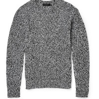 Calvin Klein Collection - Gabriel Mélange Cotton and Cashmere-Blend Sweater | MR PORTER
