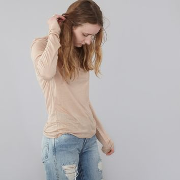 Base Range Long Sleeve T-Shirt - Nude
