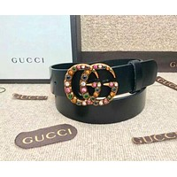 GUCCI trend classic simple simple fashion smooth buckle belt